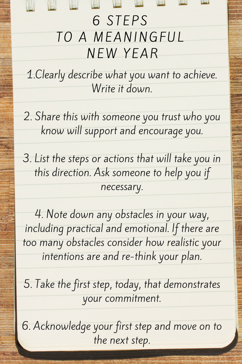6 Steps to a Meaningful New Year